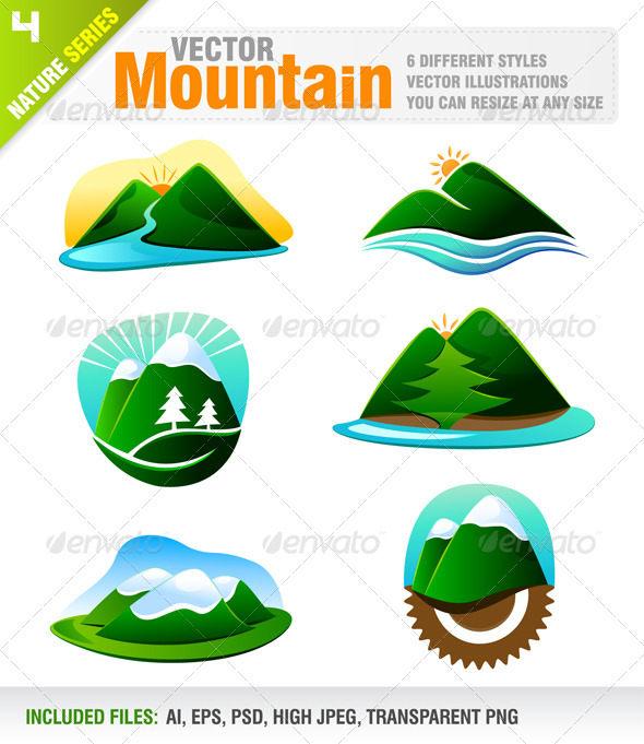 6 Mountain Designs - Nature Conceptual