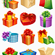 gift box icons - GraphicRiver Item for Sale