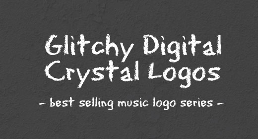 Glitchy Digital Crystal Logos