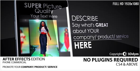 After Effects Project - VideoHive The Phone Commercial 2031231