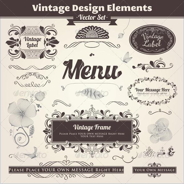 GraphicRiver Vintage Calligraphic Design Elements 2291728