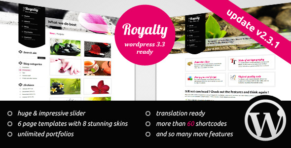 Royalty Wordpress Theme -