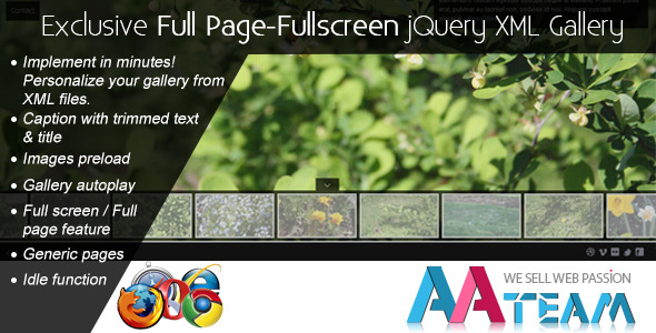 CodeCanyon Exclusive Full Page-Fullscreen jQuery XML Gallery 2318002