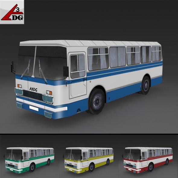 3DOcean LAZ-BUS LowPoly 2318787