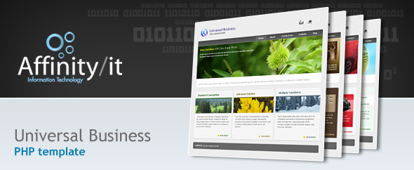 Universal Business Template, Dynamic Menu & Form - Template advert :)