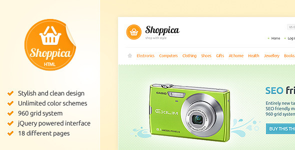 ThemeForest Shoppica Premium HTML E-commerce Theme 262883
