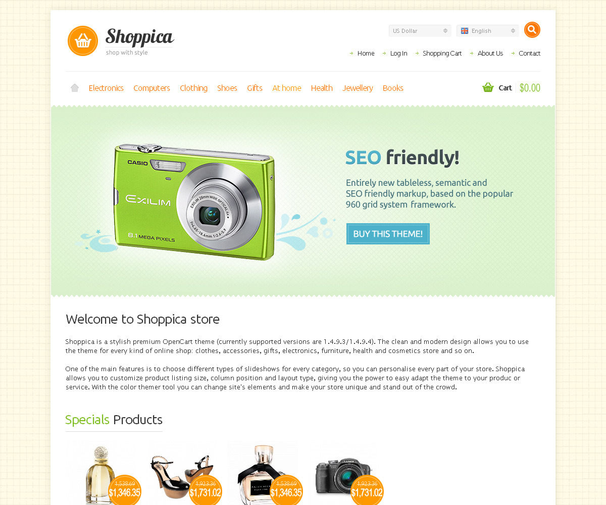 Shoppica - Premium HTML E-commerce Theme