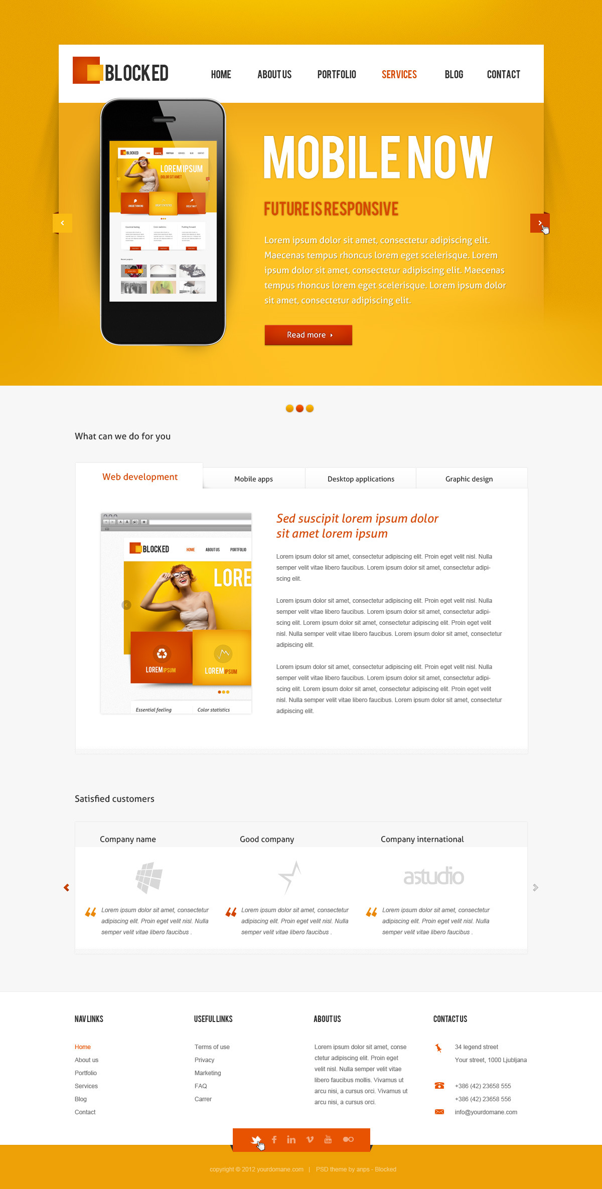 Blocked - Multipurpose PSD Theme