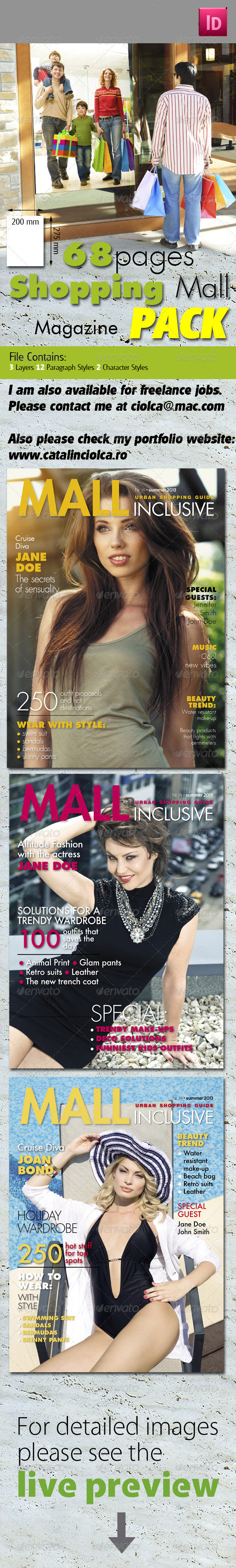 68 Pages Shopping Mall Magazine Pack - Magazines Print Templates