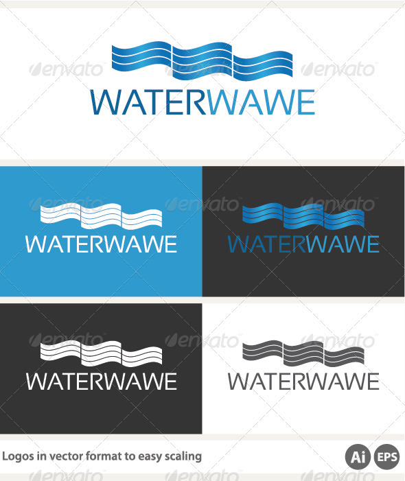 Water Wave Logo - Abstract Logo Templates