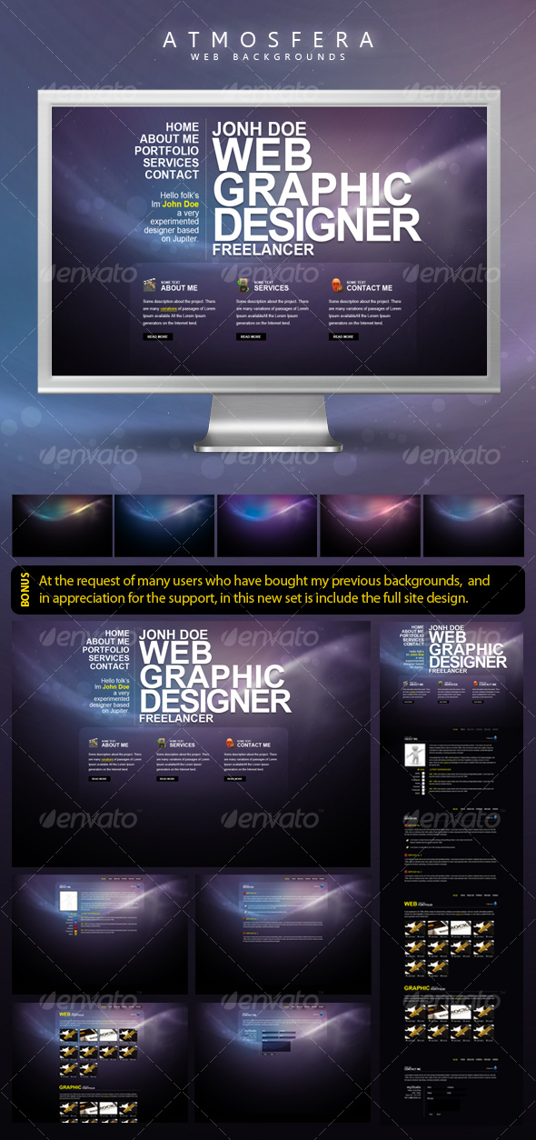 Atmosfera Web Backgrounds - Backgrounds Graphics