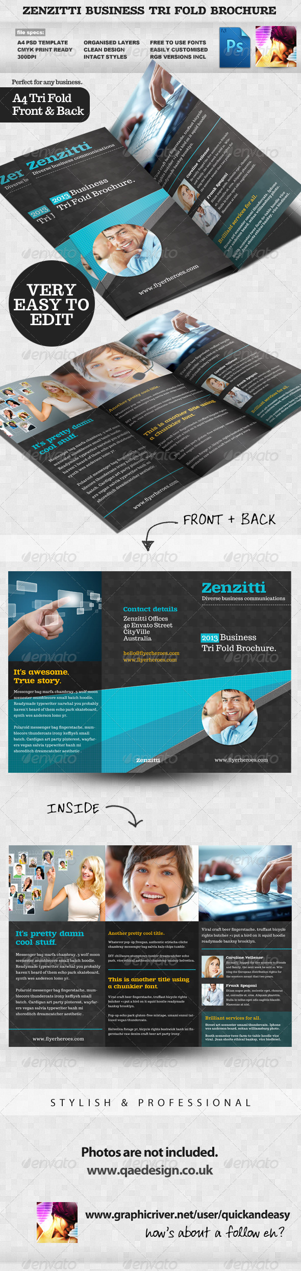 GraphicRiver Zenzitti Business Tri-fold brochure 2324810
