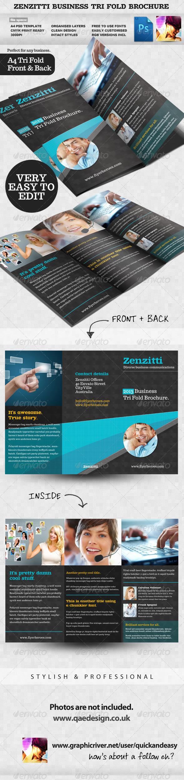 GraphicRiver Zenzitti Business Tri-fold brochure 2324810