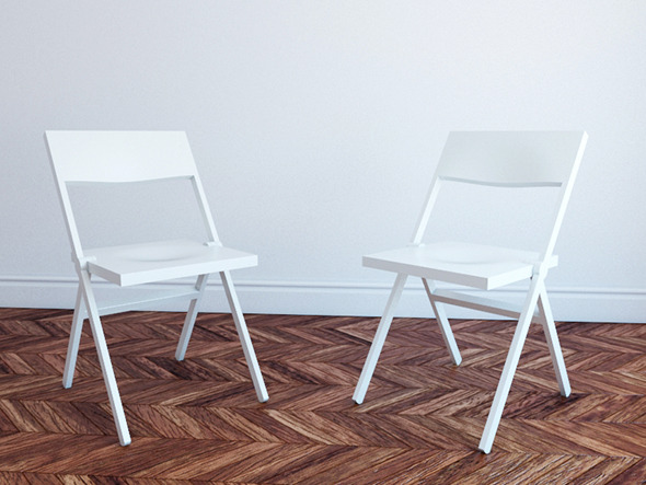 3DOcean Chair Piana by David Chipperfield for Alessi 2325112