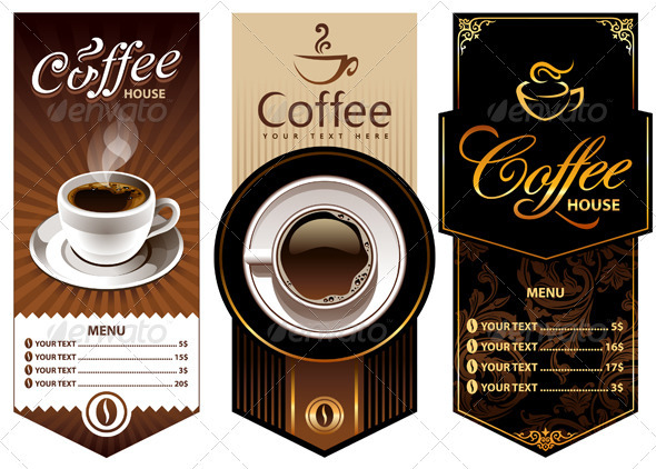 GraphicRiver Three coffee design templates 263358
