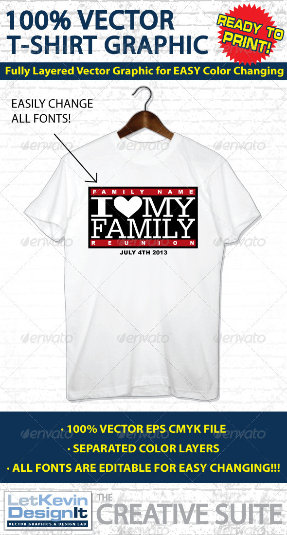 Family Reunion Vector T-shirt Graphic GraphicRiver - T-Shirts -  Events 2311909