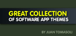 Great collection of Software app themes