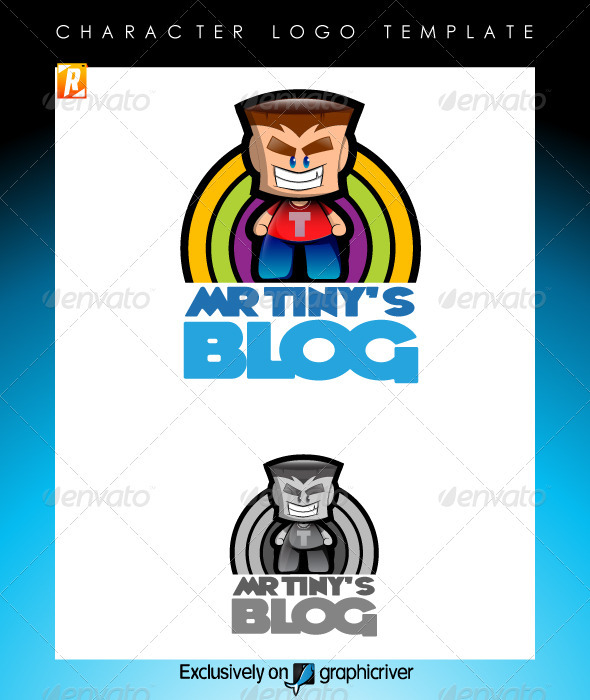 Mr Tinys Blog Logo Template - Humans Logo Templates
