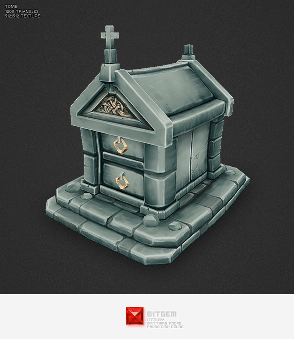 Low Poly Tomb - 3DOcean Item for Sale