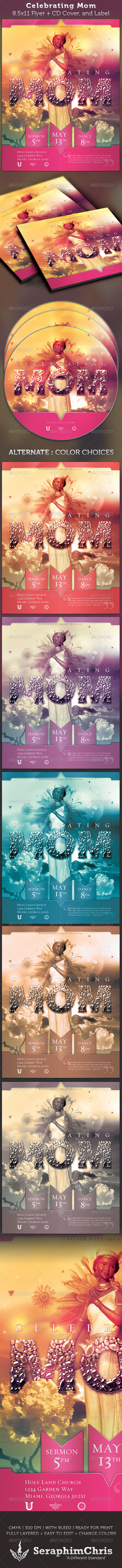 Graphic River Celebrating Mom Full Page Flyer and CD Cover Print Templates -  Flyers  Church 2306043
