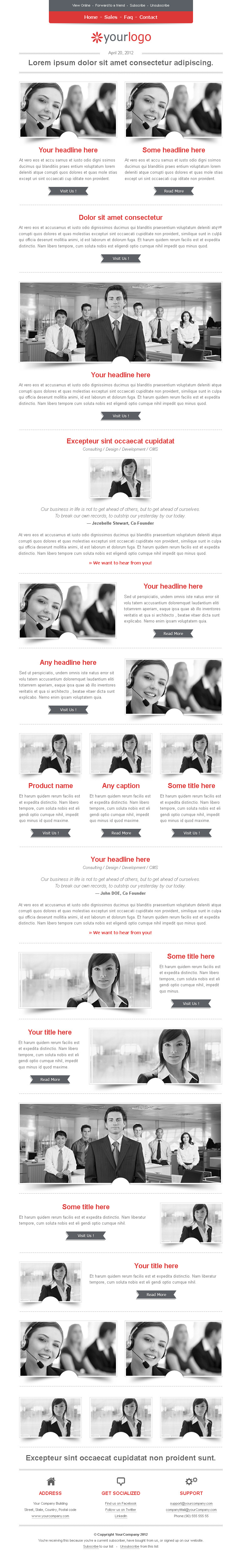 E-Business HTML Email Template
