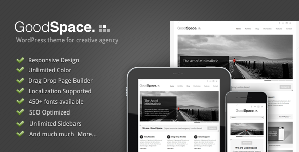 Good Space - Responsive Minimal WP Theme  - introduction