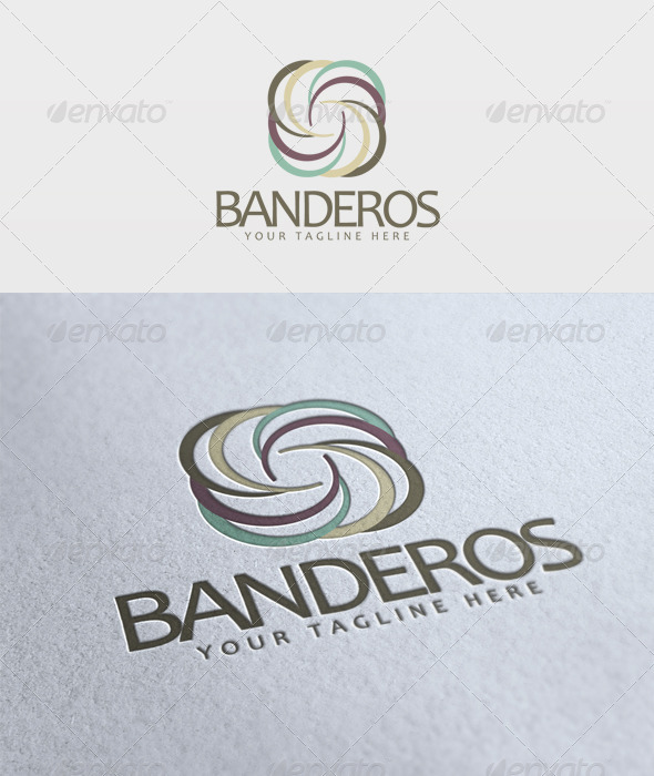 Banderos Logo - Vector Abstract