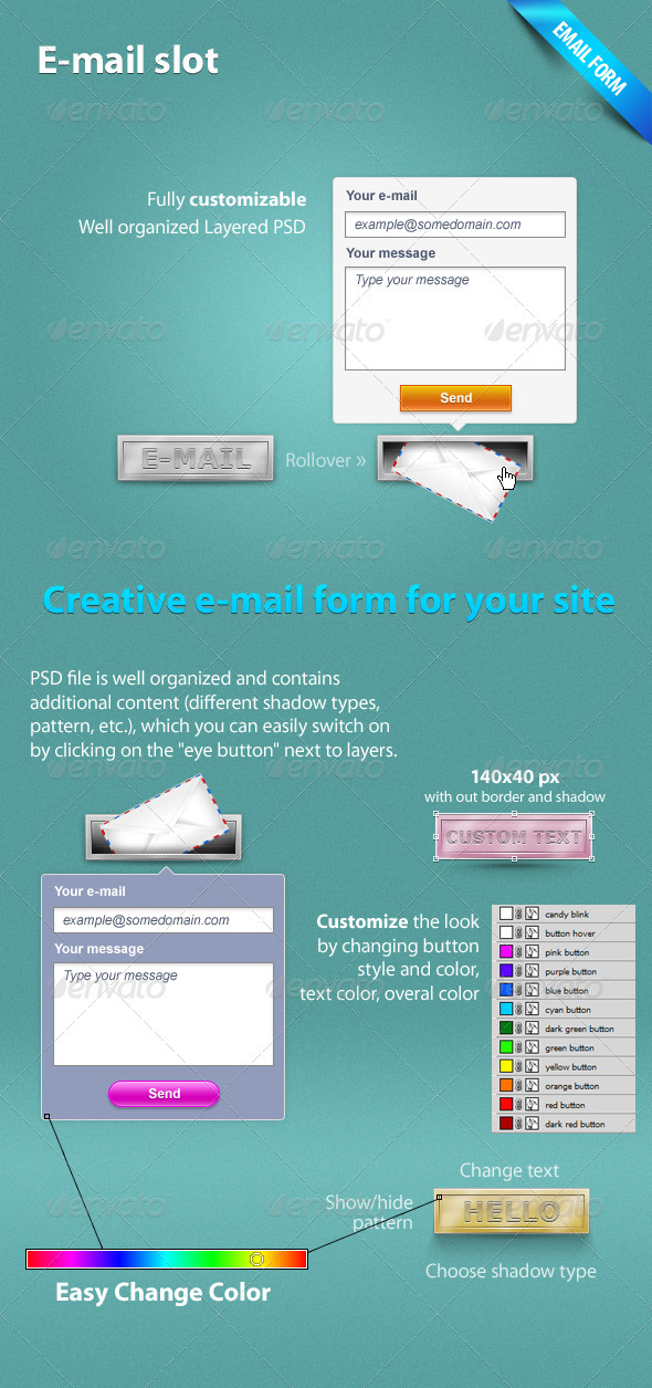E-Mail Slot - Forms Web Elements