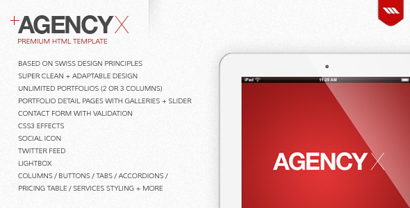 Agency X - Premium HTML Template