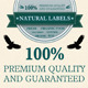 Set Quality Labels for Natural Ingredients - GraphicRiver Item for Sale