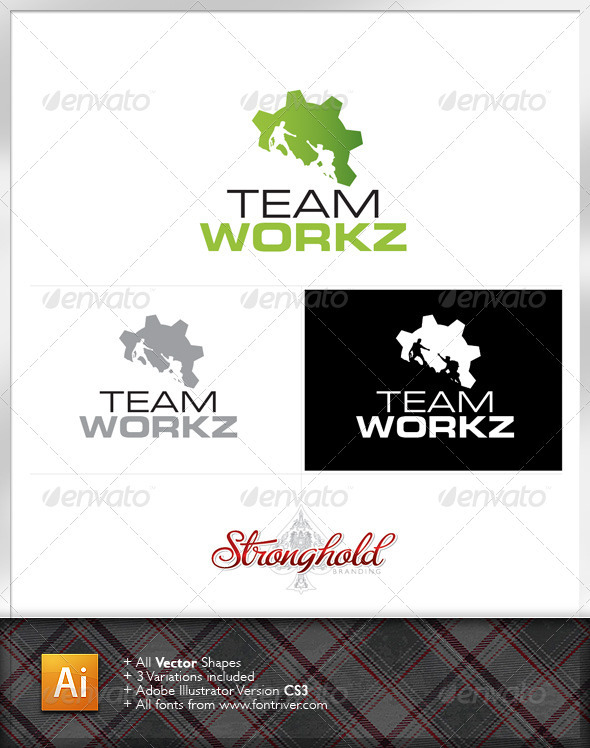 Team Workz Logo Template - Symbols Logo Templates