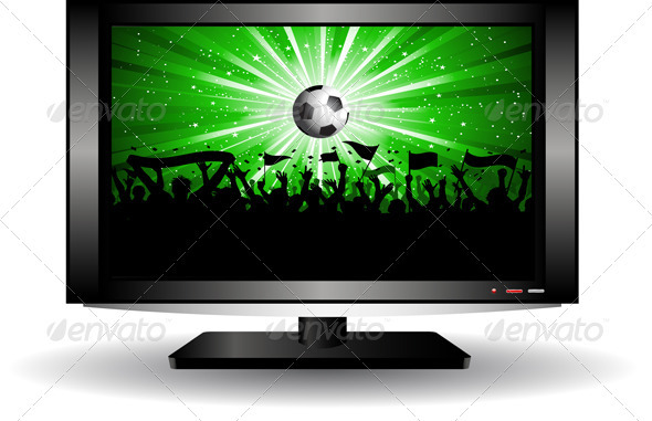 GraphicRiver Football crowd on a TV screen 2329111