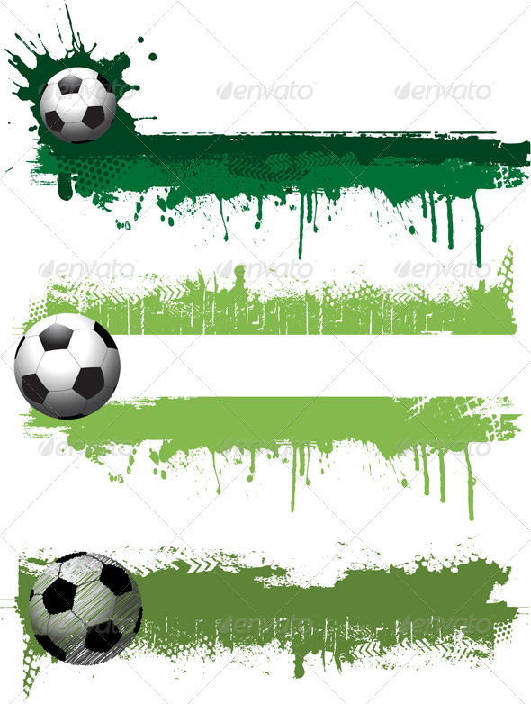 Grunge Football Banners - Sports/Activity Conceptual