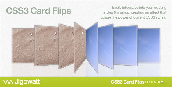CSS3 Card Flips - CodeCanyon Item for Sale