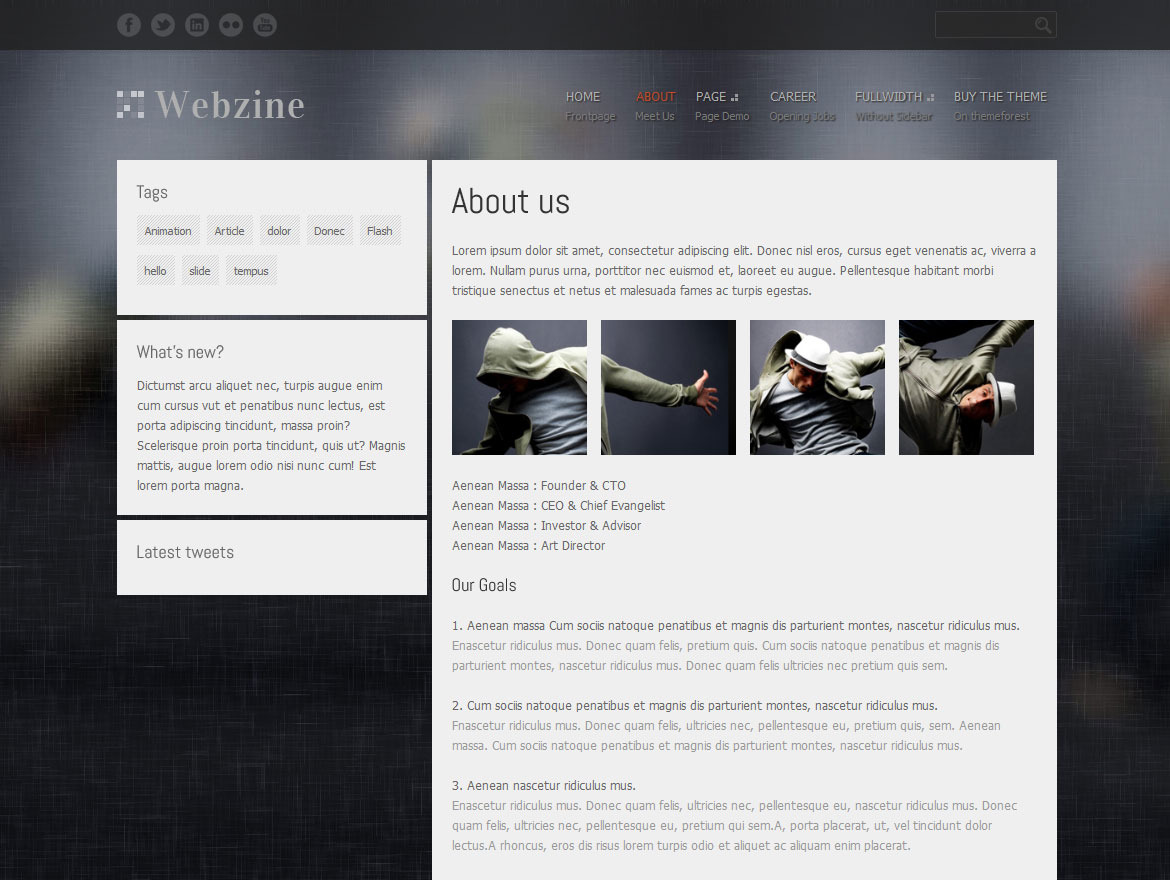 Webzine Magazine&amp;Portfolio Responsive HTML Theme 