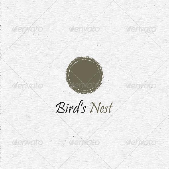 Graphicriver birds nest logo 2303254 logo template nature