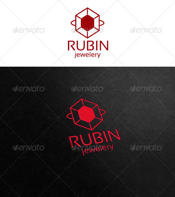 Rubin - jewelry logo - Symbols Logo Templates