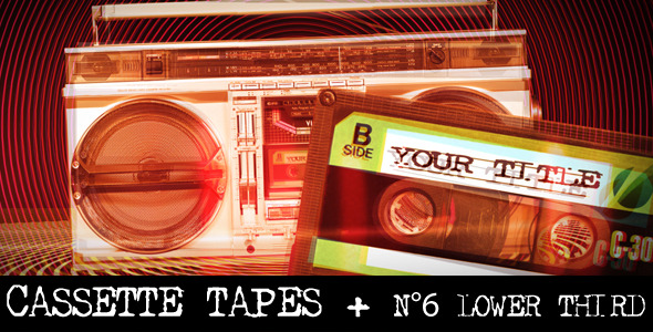 After Effects Project - VideoHive Cassette Tapes Intro & Lower Thirds 2310650