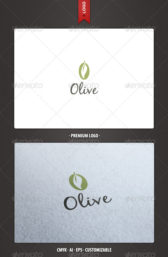 Olive Logo Template - Food Logo Templates