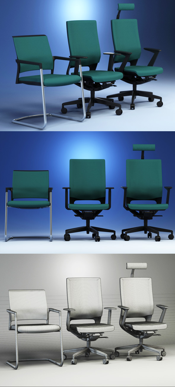 3DOcean Quality 3dmodel of modern chairs Mera Kloeber 2334653