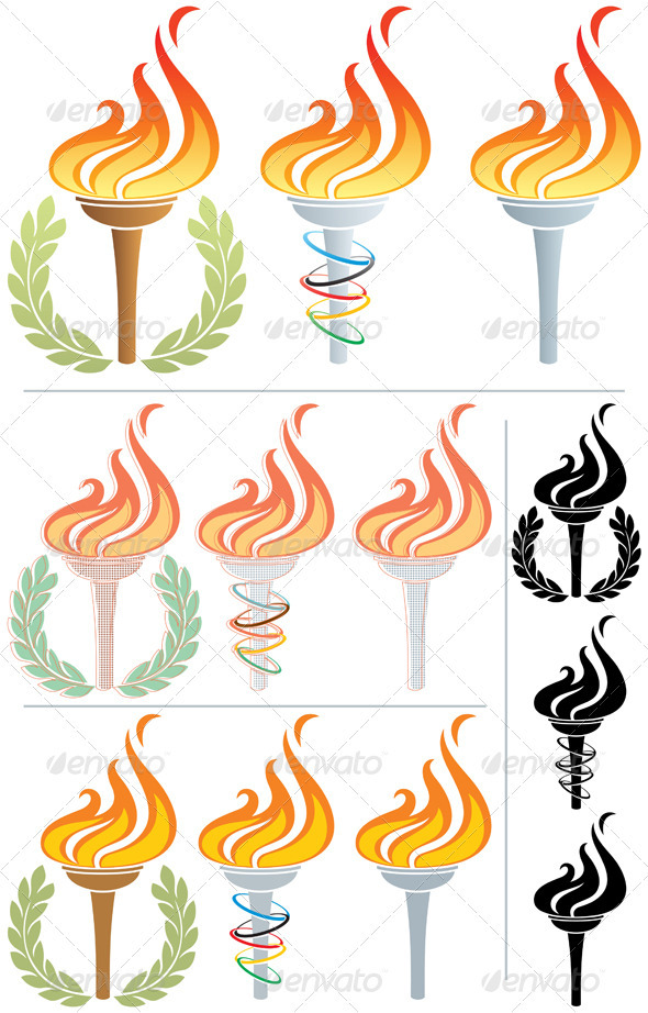 GraphicRiver Flaming Torch 2334655