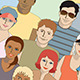 Crowd of Sports Spectators - Seamless - GraphicRiver Item for Sale