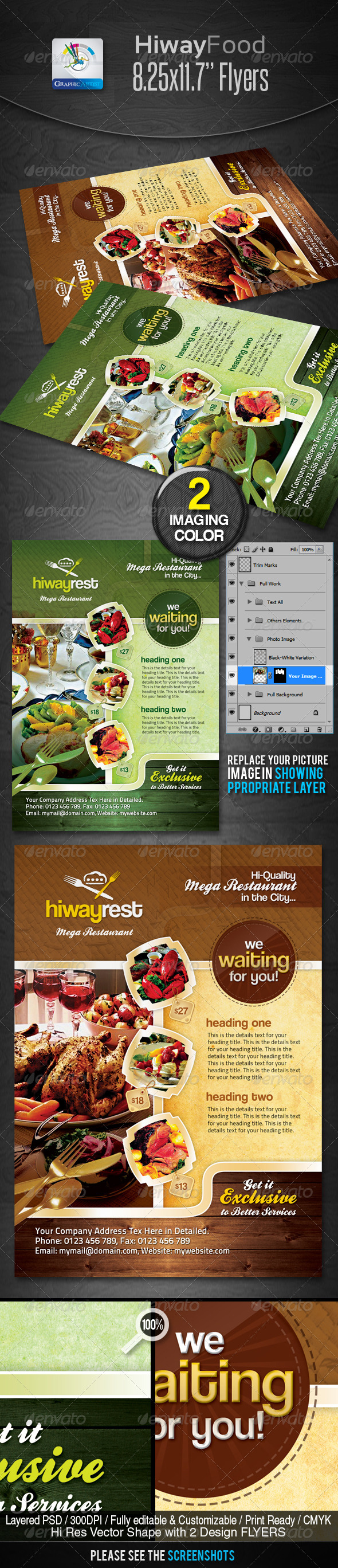 Hiway Modern Foods Flyers - Restaurant Flyers