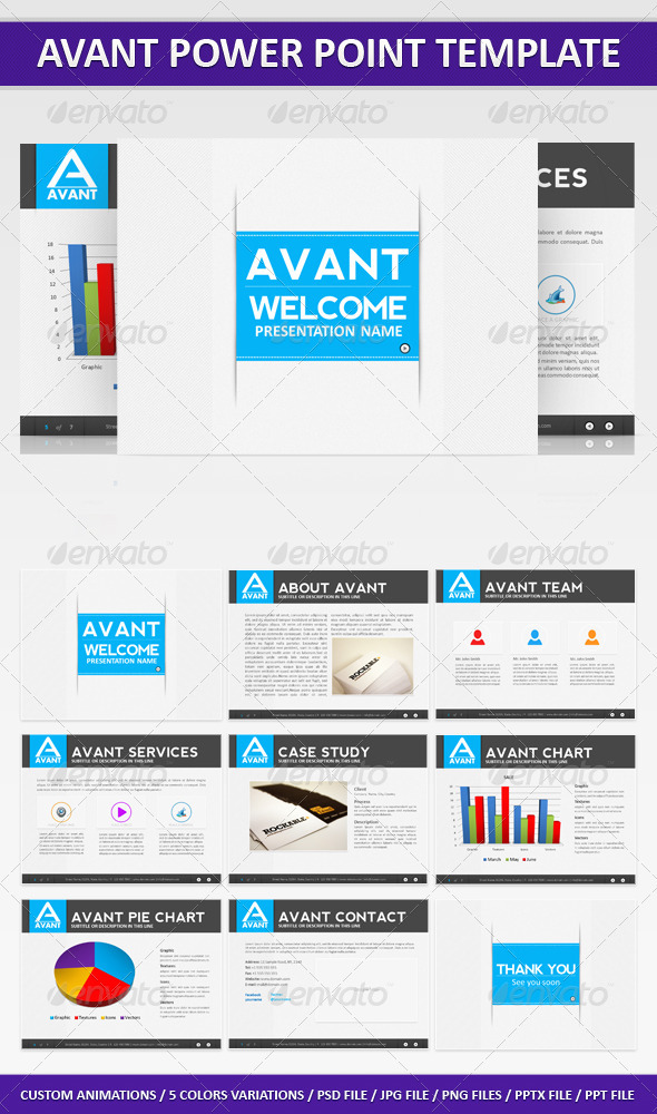 GraphicRiver Avant PowerPoint Presentation 264213