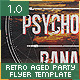 Retro Aged Party Flyer Template - GraphicRiver Item for Sale