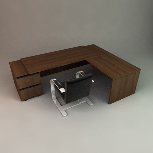 Executive Desk - 3DOcean Item for Sale