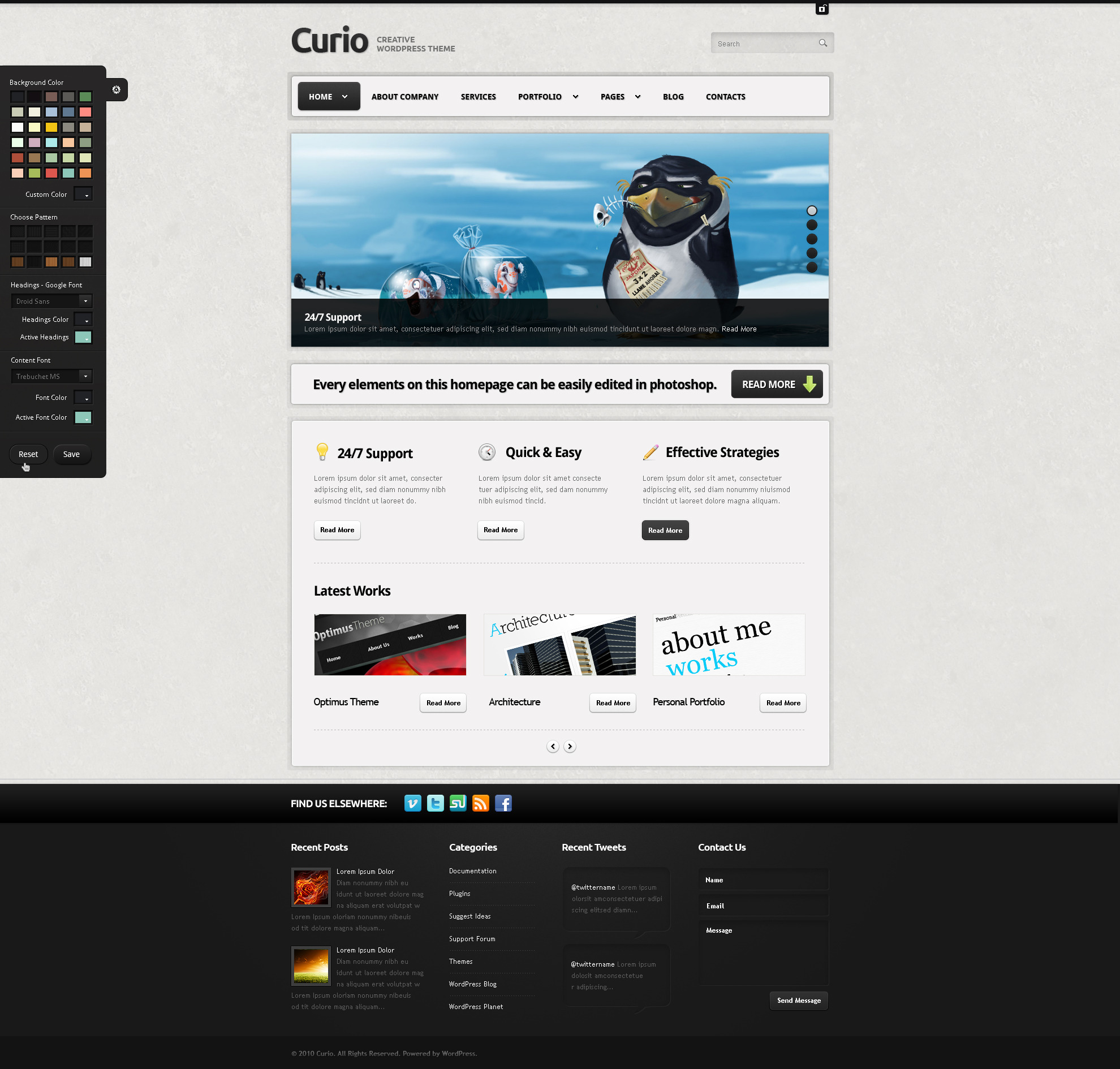Curio - Clean & Creative Wordpress Theme