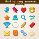 Vector Hand Draw Blog And Social Media Icon Set - GraphicRiver Item for Sale