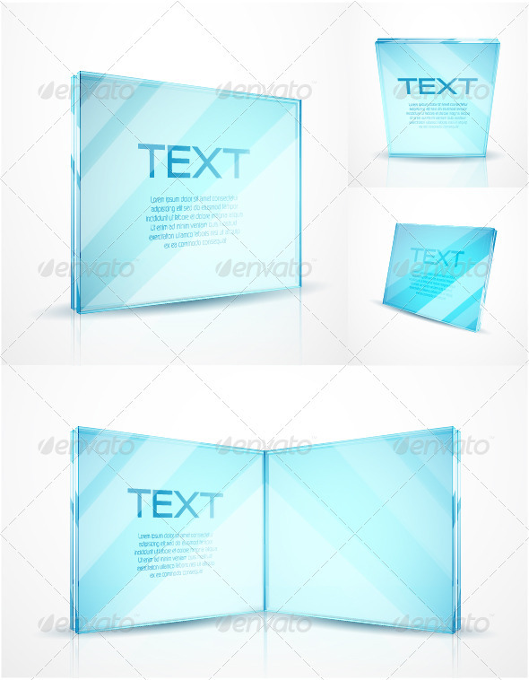 Glass vector product mock-up - Retail Commercial / Shopping