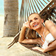 Happy Young Woman Relaxing In A Hammock - VideoHive Item for Sale